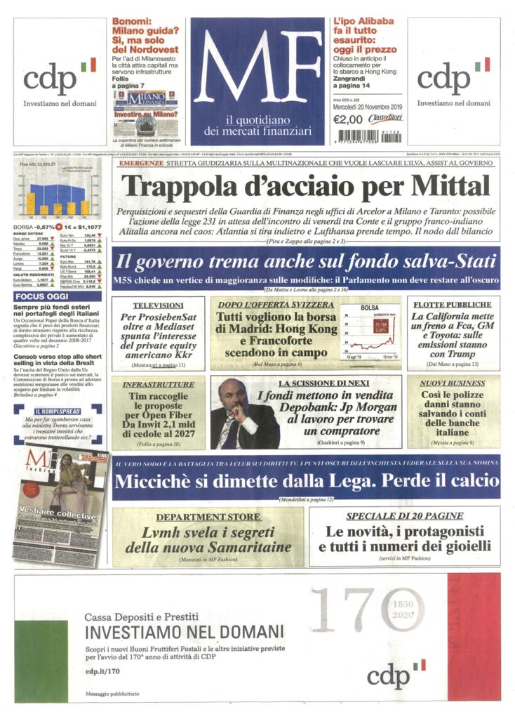 Farnese Gioielli Milano & Finanza Novembre 19_1