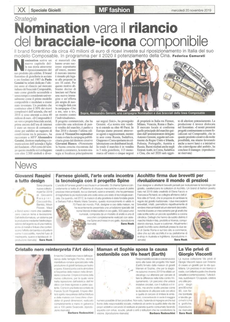 Farnese Gioielli Milano & Finanza Novembre 19_2