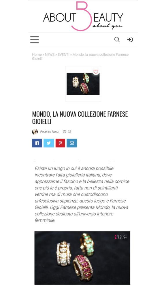 Farnese Gioielli - About Beauty - Giugno 2017