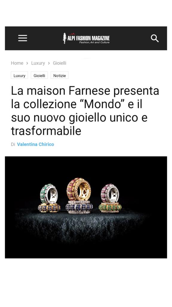 Farnese Gioielli - AlpiFashionMagazine - Novembre 2017