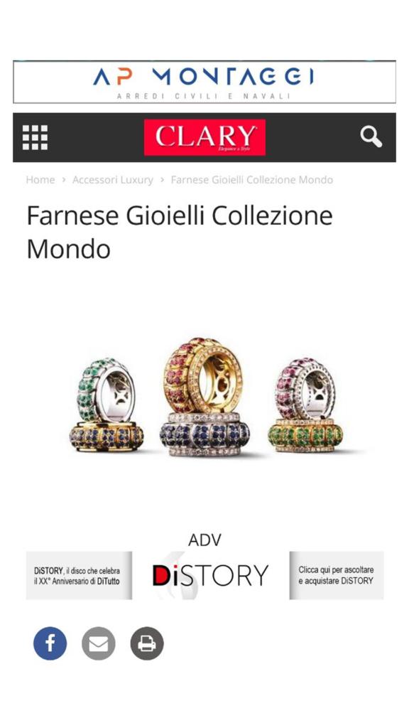 Farnese Gioielli - Claryweb - Novembre 2017