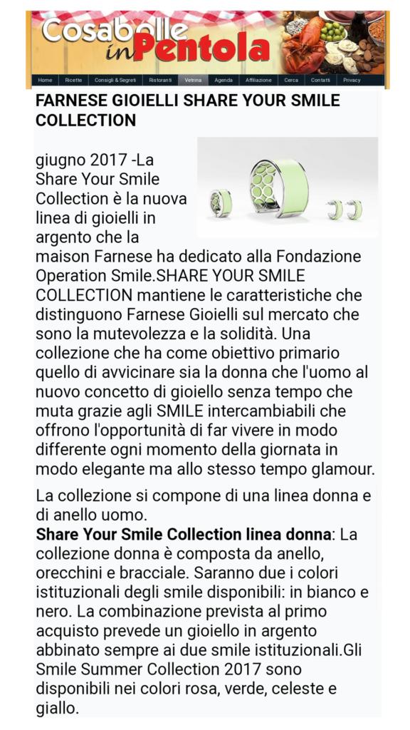 Farnese Gioielli - Cosa bolle in pentola - Giugno 2017