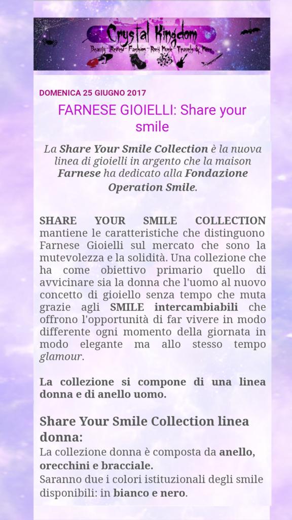 Farnese Gioielli - Crystal Kingdom Blog- Giugno 2017
