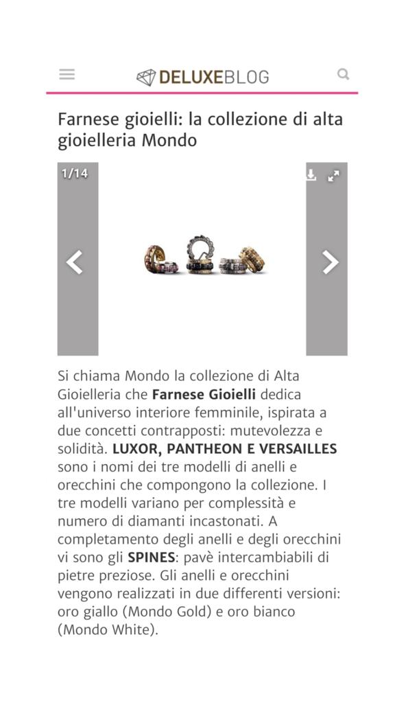 Farnese Gioielli - Deluxe Blog - Agosto 2017