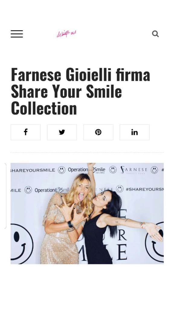 Farnese Gioielli - Design Me- Ottobre 2017