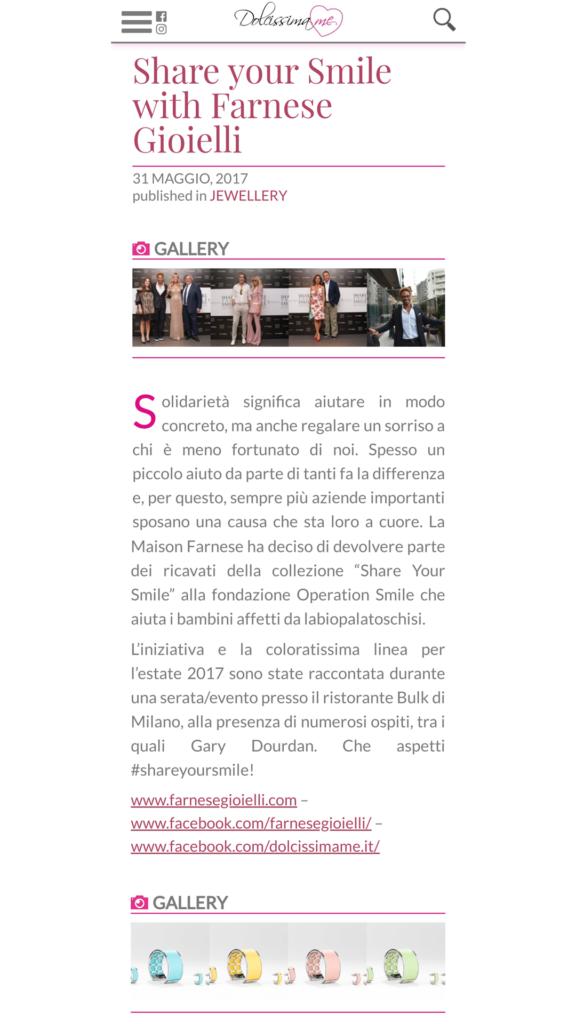 Farnese Gioielli - Dolcissima Me Blog - Maggio 2017