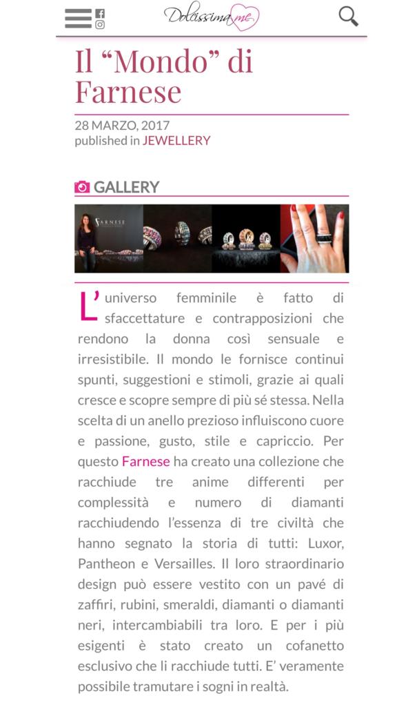 Farnese Gioielli - Dolcissima Me Blog - Marzo 2017