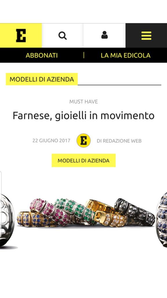 Farnese Gioielli - Economy Mag- Giugno 2017