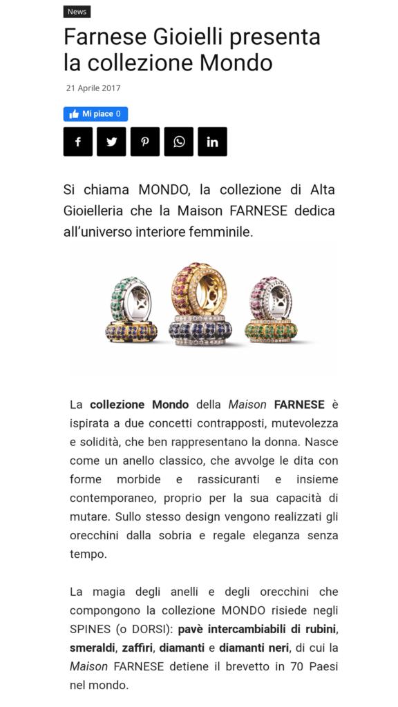 Farnese Gioielli - Fashion Press - Aprile 2017