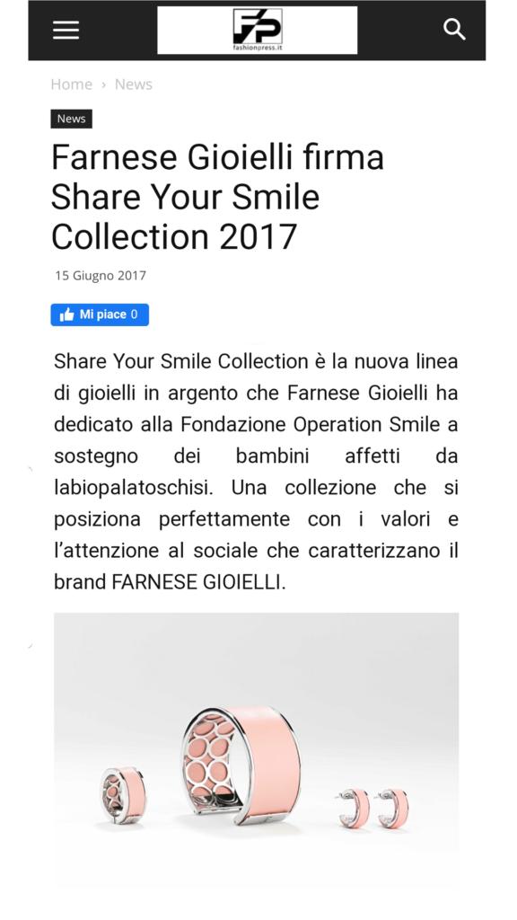Farnese Gioielli - Fashion Press - Giugno 2017