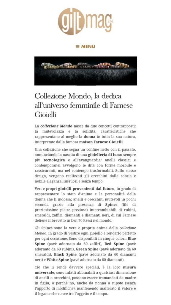 Farnese Gioielli - Gilt Magazine - Aprile 2017