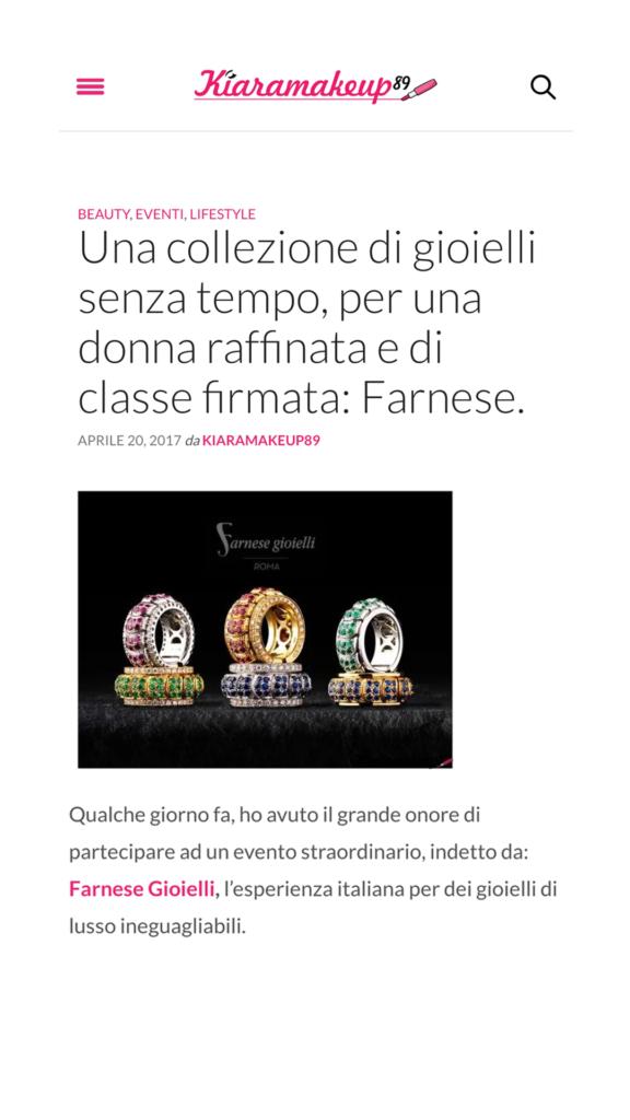 Farnese Gioielli - Kiara Make Up - Aprile 2017