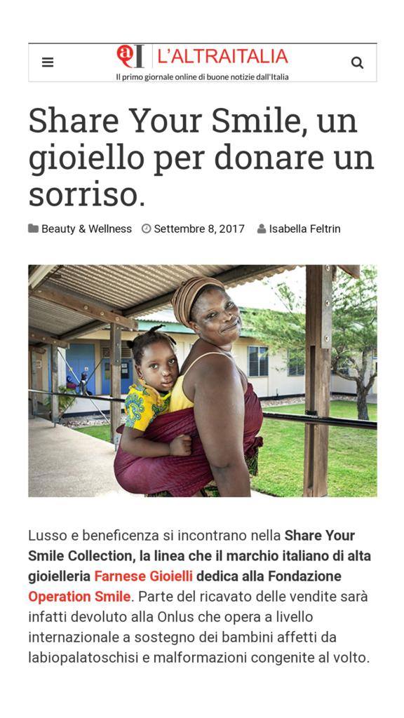Farnese Gioielli - L-altra Italia - Settembre 2017