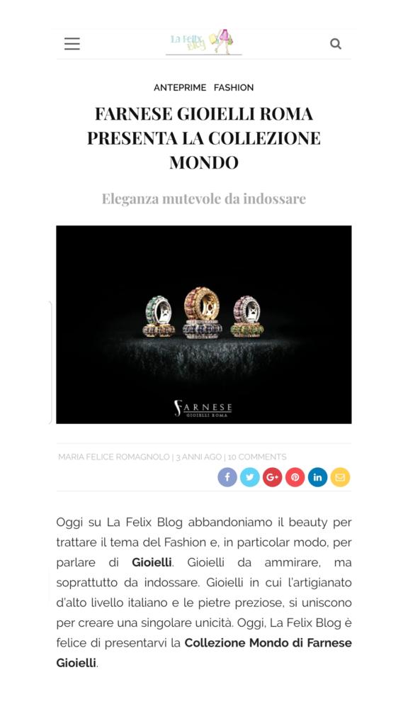 Farnese Gioielli - La Felix Blog - Maggio 2017
