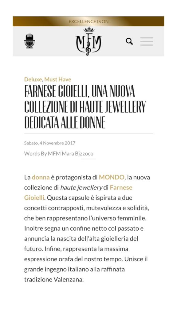 Farnese Gioielli - MFM - Novembre 2017