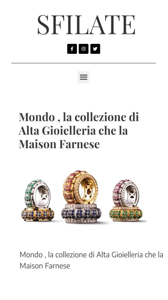 Farnese Gioielli - Sfilate - Aprile 2017