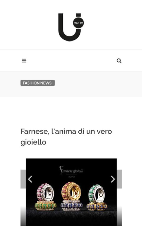 Farnese Gioielli - UFashion - Novembre 2017